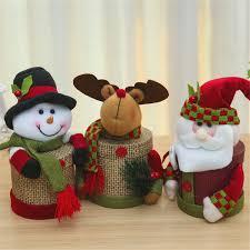 1pcs snowman christmas eve wedding favour linen candy bag gift