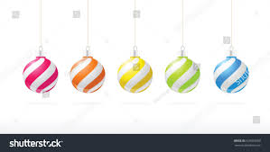 striped ornaments hanging vector stock vector