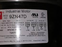 dayton electric motor model 5k960 at electric motors wiring
