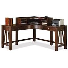 riverside furniture castlewood corner desk with hutch in warm