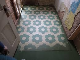water lillies vinyl floor cloth as permanent bathroom flooring