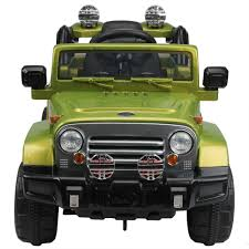 power wheels jeep hurricane green ride on car ebay