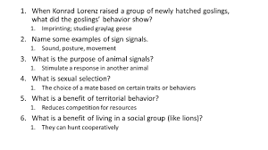 animal behavior study guide answers ppt video online download