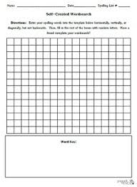 blank templates for word blank self created word search template spelling vocabulary tpt