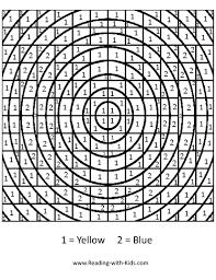hard color by number worksheets free download