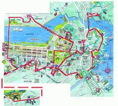 boston tourist map boston beantown trolley map boston map