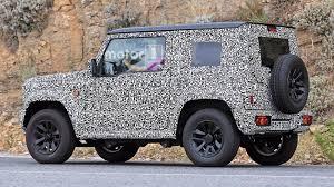 jeep suzuki new suzuki jimny spotted in testing