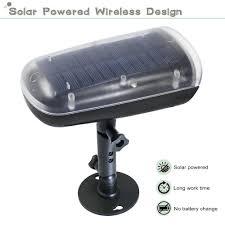 Solar Powered Motion Sensor Outdoor Light by Led Solar Powered Outdoor Security Light With Pir Motion Sensor