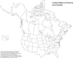 map of us and canada blank map of america and canada with states major tourist