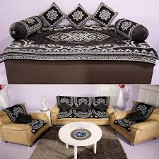 Slipcover For Pillow Back Sofa by 17 Pc Diwan U0026 Sofa Cover Set By Azaani Diwan Set Covers Homeshop18