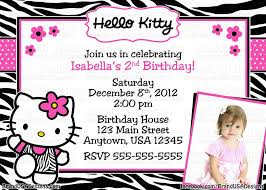 Invitation Card 7th Birthday Boy Hello Kitty Birthday Invitations Birthday Party Invitations
