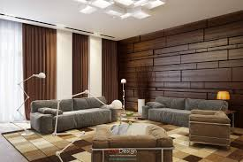 living room marvelous brown modern varnished wood paneling wall