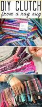 diy purse from rag rug the heathered nest