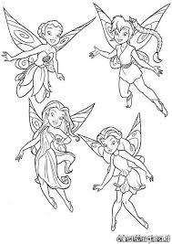 tinkerbell friends pictures kids coloring