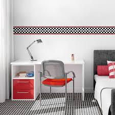 Reusable Wallpaper by Racing Checker Removable Border