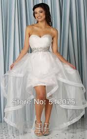 high to low wedding dress white high low wedding dress obniiis
