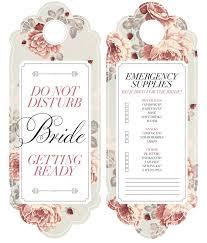 diy bride door hanger bijoux bride free printable do not