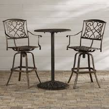 Patio Bar Height Table And Chairs by Bar Height Patio Sets Wayfair