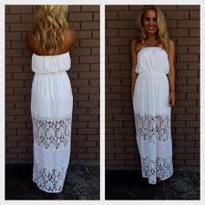 casual white strapless maxi dress naf dresses with regard to