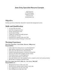Sample Benefits Specialist Resume Sample Resume Of Data Entry Clerk It Resume Cover Letter Sample