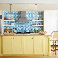 white kitchen cabinets with blue tiles 31 kitchen color ideas best kitchen paint color schemes