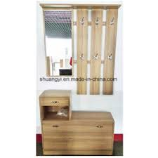 china hallway entryway wooden mirror hall shoe cabinet with coat