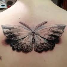 realistic moth back tattoo tattoomagz