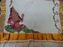 Mural Painting Designs by Krithi Designer Boutique Mural Paintings On Sarees U0026 Pot