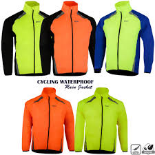 Cycling Waterproof Rain Jacket Lightweight High Visibility Rain