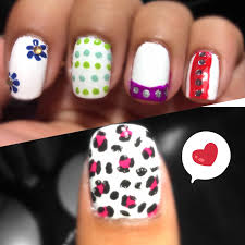 5 different quick and easy cute nail art designs for beginners