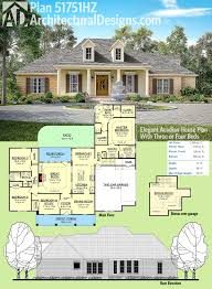 House Plans With Media Room Plan 51751hz Elegant Acadian House Plan With Three Or Four Beds