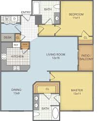 Watermark Floor Plan Watermark Rentals Roanoke Tx Apartments Com