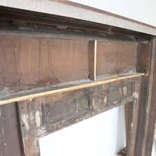 antique english renaissance revival oak fireplace mantel surround