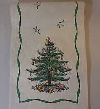 spode tree table runner 108 ivory green t4