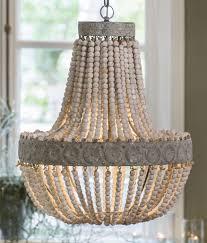 bead chandelier anvers wooden bead chandelier