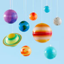 Ceiling Solar System Kit The Land Of Nod - Hanging solar system for kids room