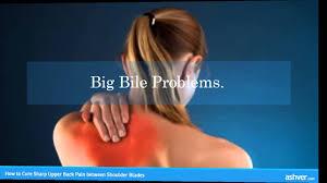 how to cure sharp back between shoulder blades