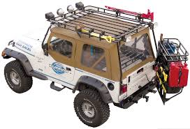 jeep safari rack garvin 34098 wilderness expedition rack for 97 06 jeep wrangler