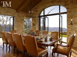 Mediterranean Dining Room With French Doors By Suzanne Tucker - Dining room with french doors