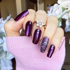 purple glitter nails nail design nail art nail salon irvine