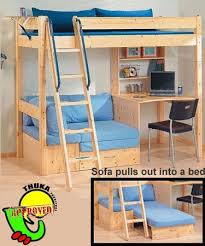 Sofa To Bunk Bed by Thuka Maxi 29 Loft Bed With Desk And Sofa Bed Chase U0027s Bedroom