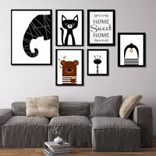 Living Room Prints | nordic cute animals canvas art canvas paintings posters and prints