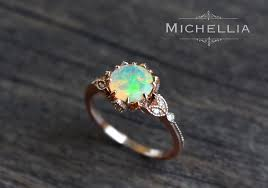 vintage opal engagement rings vintage opal floral engagement ring with diamond solid gold