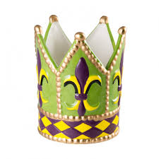 mardi gras crown ceramic mardi gras fleur de lis crown planter mg9 010