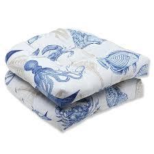 amazon com pillow perfect outdoor sealife marine wicker seat
