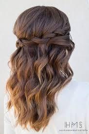 hairstyles for medium length hair with braids easy loose waterfall braid hairstyles for medium length hair