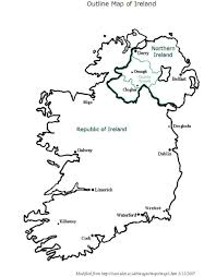 coloring page ireland map labeled bw geography st patricks day