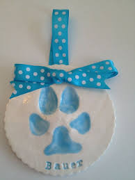 paw custom ceramic paw print ornament tile by memoriesinclay