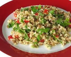 comment cuisiner le quinoa recettes recette salade de quinoa et lentilles