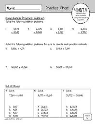 freebie 4 nbt 4 practice sheets addition and subtraction tpt